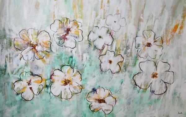 Blumen Gemälde kaufen: Weiße Unschuld
