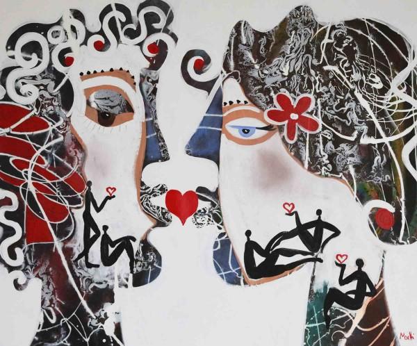 Portraimalerei: Figurative Kunst: Lovley lovers
