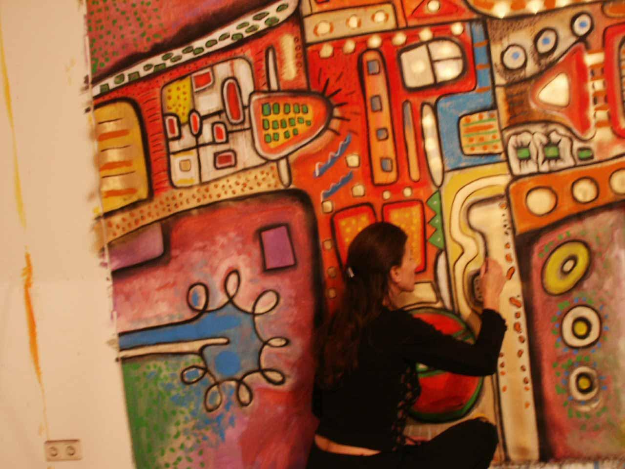 Künstler Malerei Werkschau