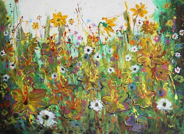 Blumen Gemälde: Wilde Wiese