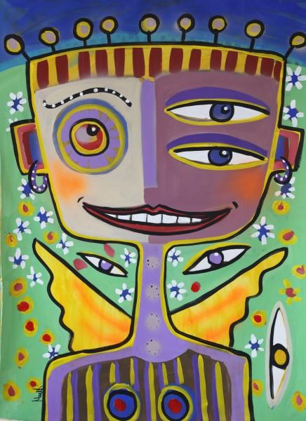 Portraitmalerei: Figurative Kunst: Engel 1