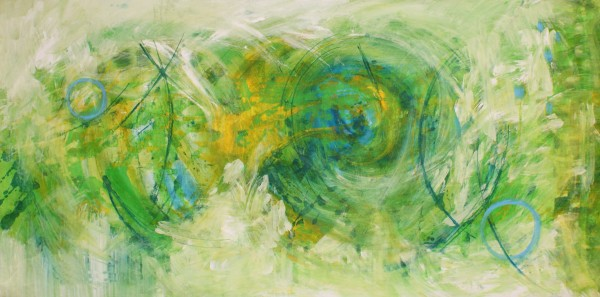Große Gemälde abstrakt: Malerei grün: Harmonie