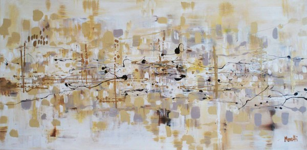 Abstrakte Gemälde: White de luxe