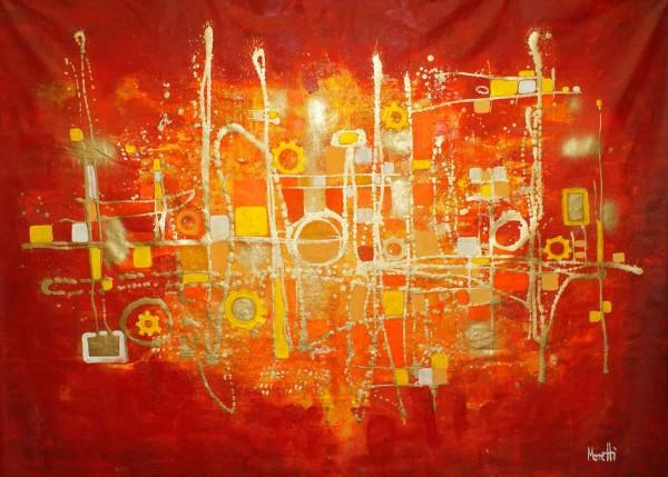 Abstrakte Gemälde: Goldmaschine