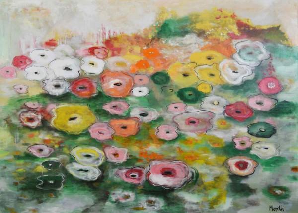 Blumen Gemälde: Ölbilder: Seerosen