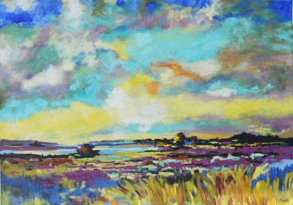Öl-gemälde Landschaften: Lavendel Wiese