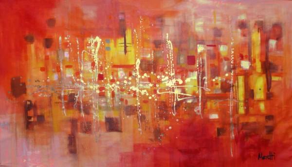 Gemälde kaufen: Orange Rot