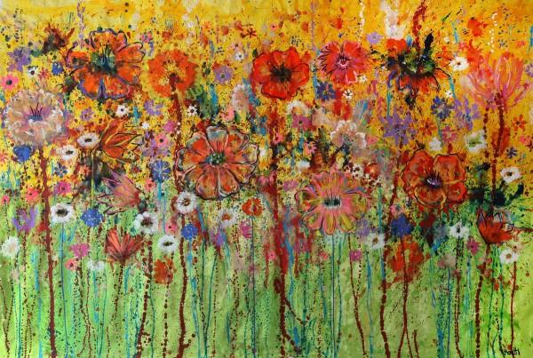 Blumen Gemälde: Sommerwiese