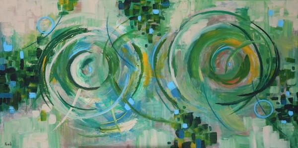 Abstrakte Gemälde: Smaragd