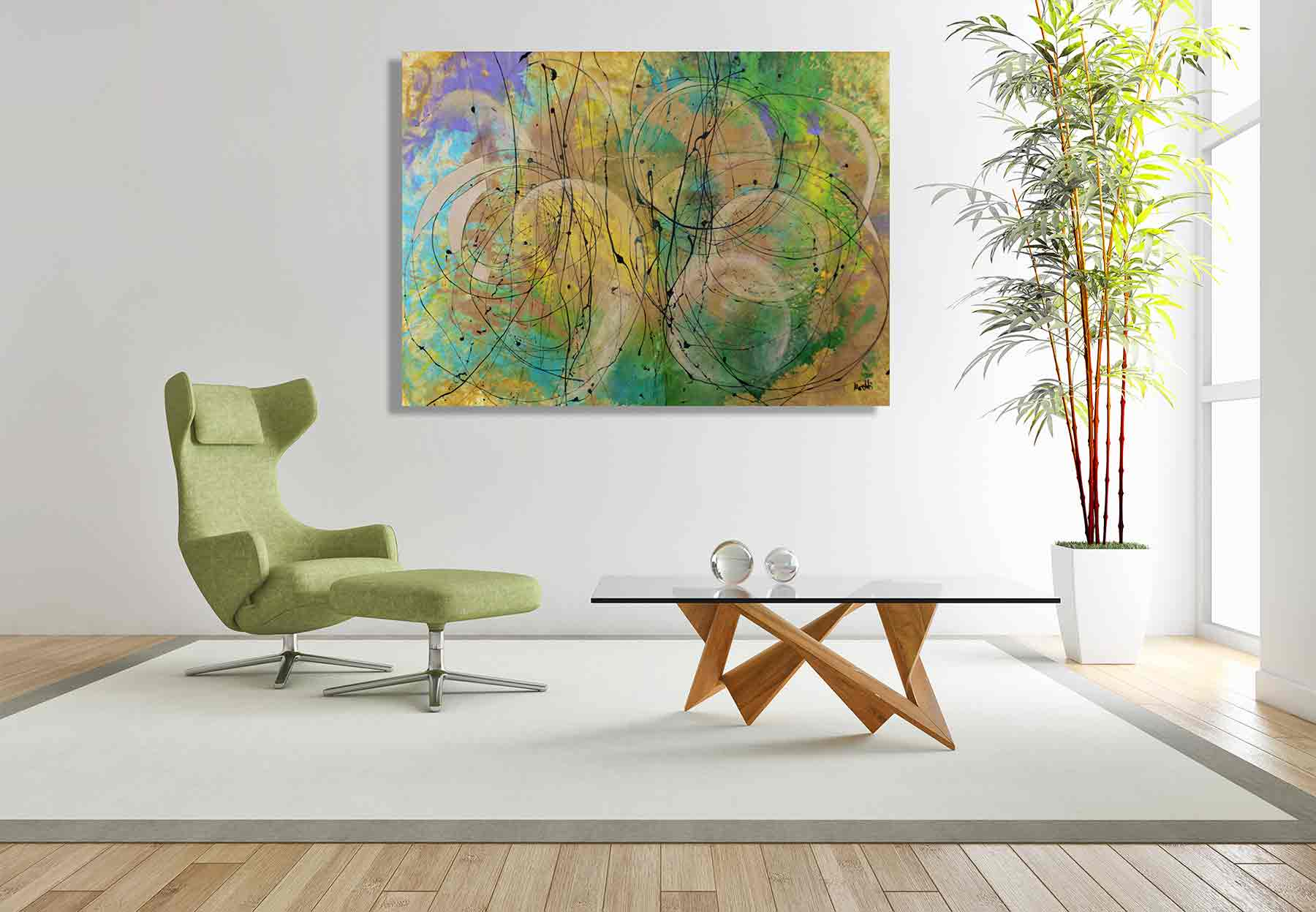 Interior Design Gemälde Purismus 1