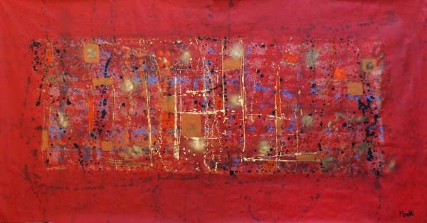 Abstrakte Gemälde: Arividerci