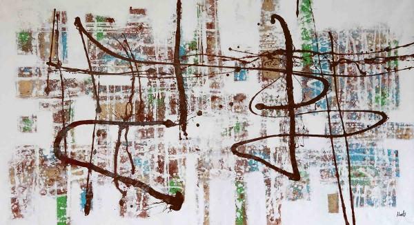 Abstrakte Gemälde: Serenade des Glücks