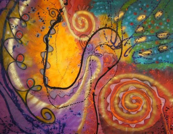 Moderne Malerei kaufen: Oranger Fleck