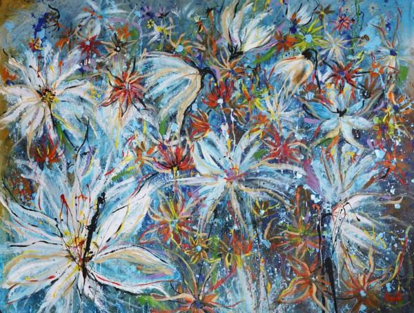 Blumen Gemälde: Ölbilder: Azurro