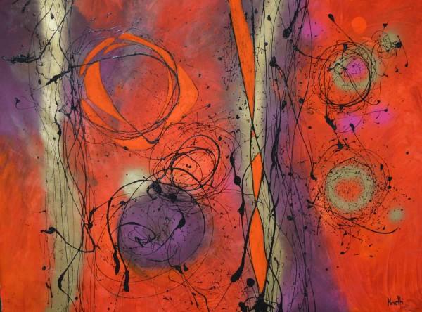 Abstrakte Gemälde: Fire