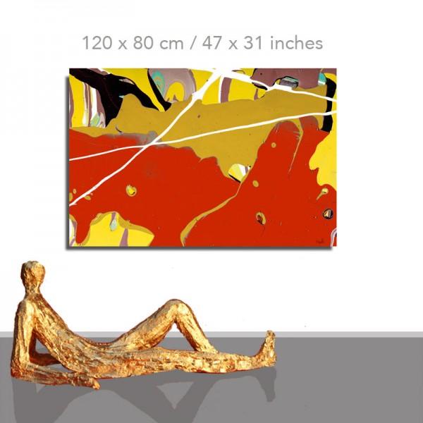 Moderne Gemälde: Acrylbild abstrakt: Texas
