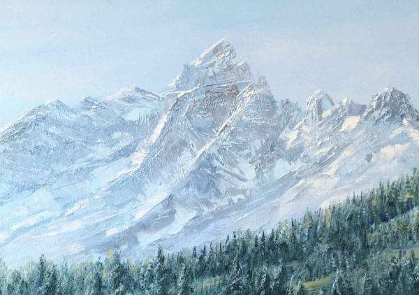 Ölgemälde Landschaften: Piz Bernina