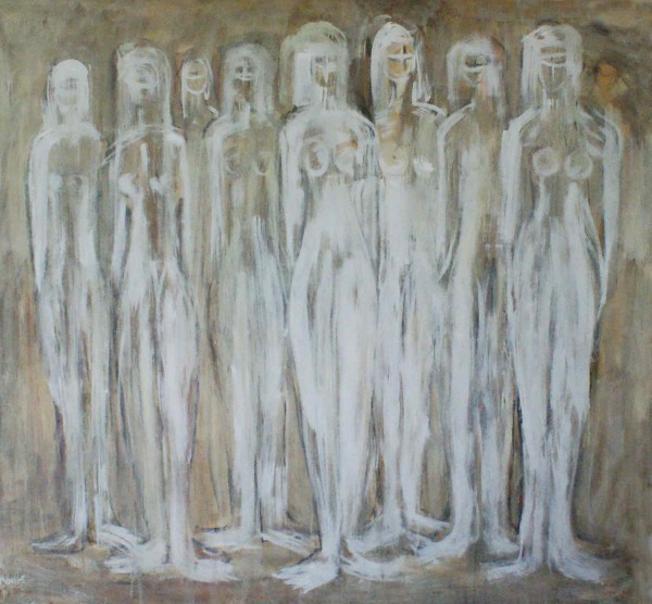 Acrylbilder: Figurative Kunst: White ladies