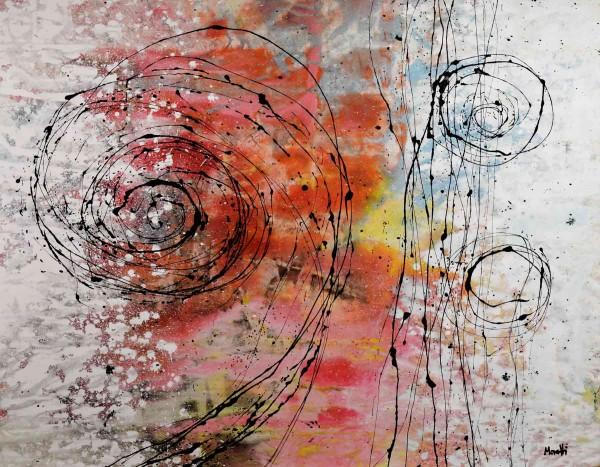 Abstraktes Gemälde: Rotes Weiß
