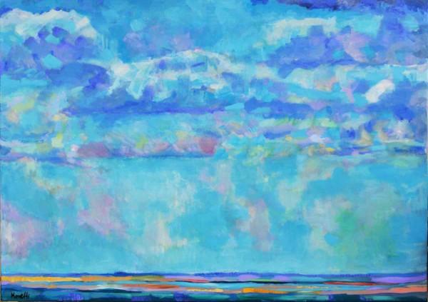 Öl-gemälde Landschaft: Blaues Meer
