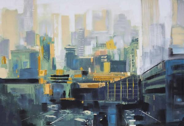 Skyline Bilder: Ölbilder: Urbano