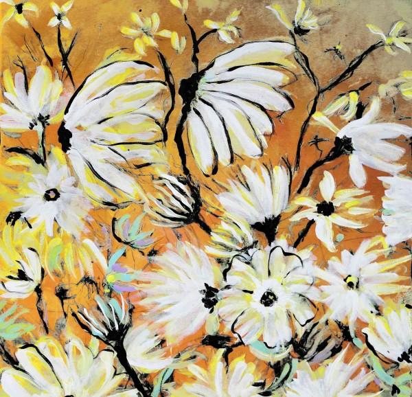 Blumen Gemälde: Ölbilder: Weiße Pracht