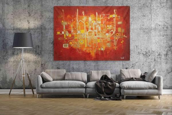 Gemälde XXL: Goldmaschine
