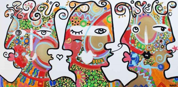 Portraitmalerei: Figurative Kunst: Muster Köpfe