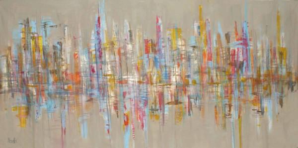 Abstrakte Gemälde: Beige forever
