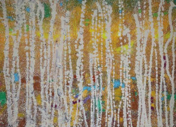 Abstrakte Gemälde kaufen: Rhythmisches Beige