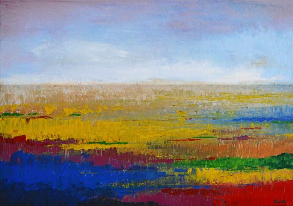 Ölgemälde Landschaft: Dünen