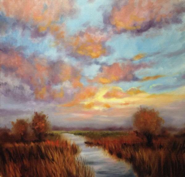 Ölgemälde Landschaften kaufen: Weizen Feld