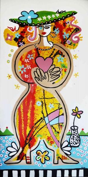 Gemälde Frauen kaufen: Herzdame
