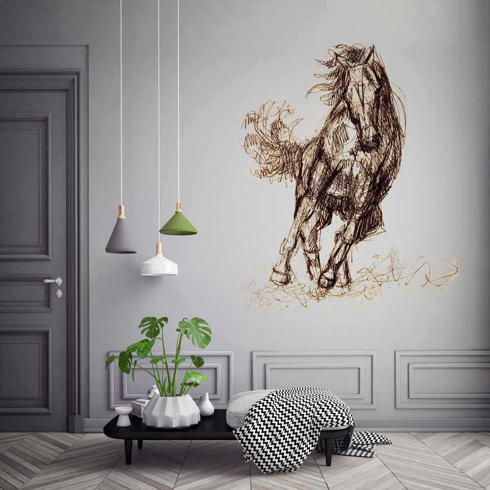 Auftragsmalerei Wandmalerei Pferd