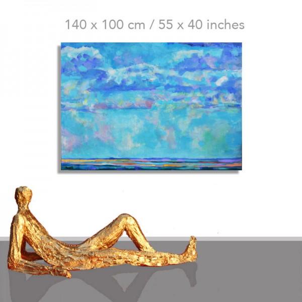 Blaues Meer: 140 x 100 cm