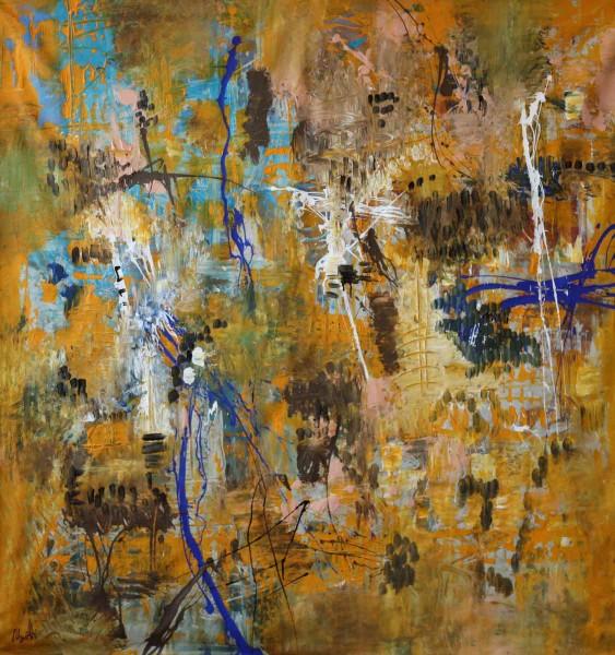 Kunstwerke: Ocker Blau