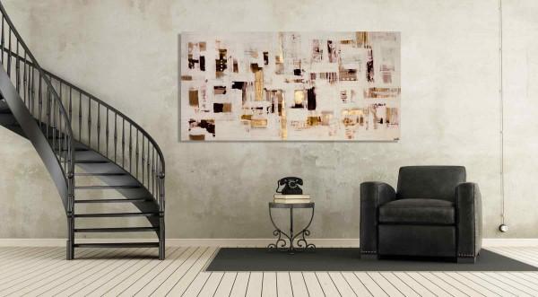Abstrakte Gemälde: Hohe Strukturen: Schwarz Weiß: Sonderfall