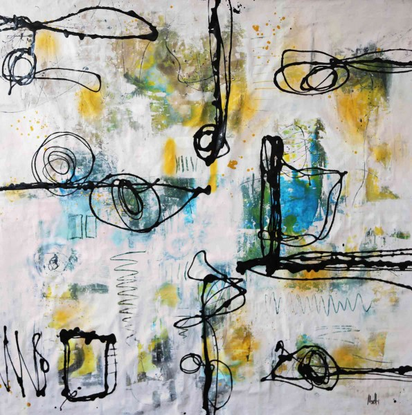 Abstrakte Gemälde kaufen: Kunstbilder: Alles Gute