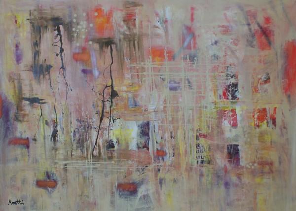 Moderne Gemälde: Beige action