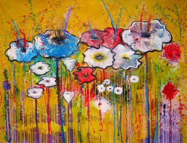 Blumen Gemälde kaufen: Ölbilder: Floral blues