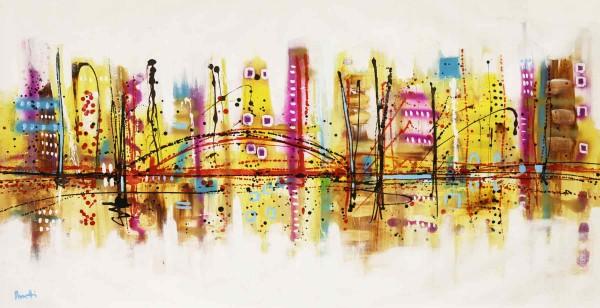 Skyline Bilder: Ölbilder: Bonbon city