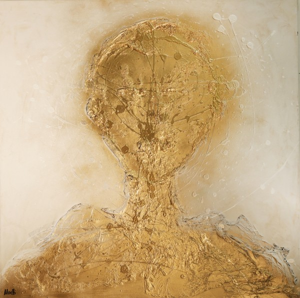 Portraitmalerei: Figurative Kunst: Gold head