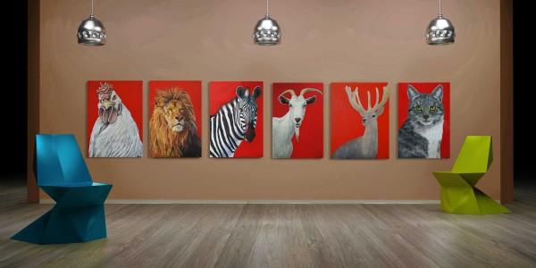 Acrylbilder modern: Zebra