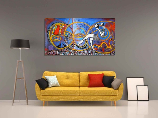 Einzigartiges Gemälde: Acrylbild modern: Ying Yang