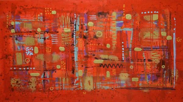 Abstrakte Gemälde: Rouge Noblesse