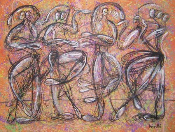Acrylbilder: Figurative Kunst: Move 1