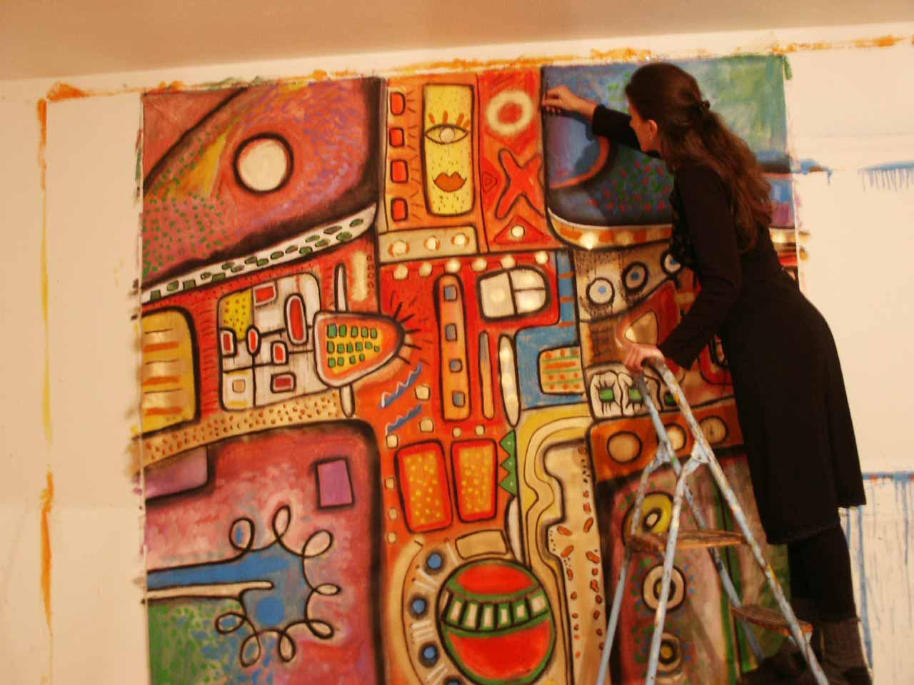 Künstler Malerei großes Format