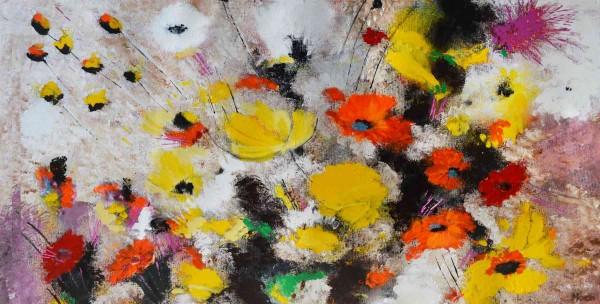 Blumen Gemälde: Ölbilder: Bouquet