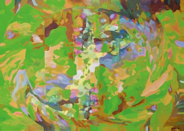 Abstrakte Gemälde: Verde