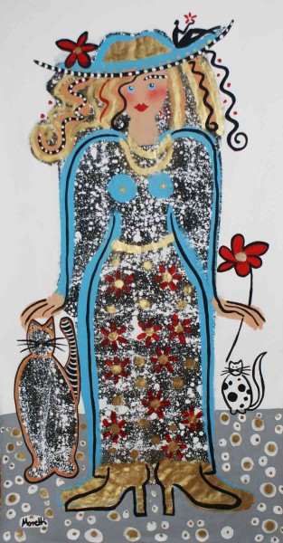 Gemälde Frauen: Aquamarina